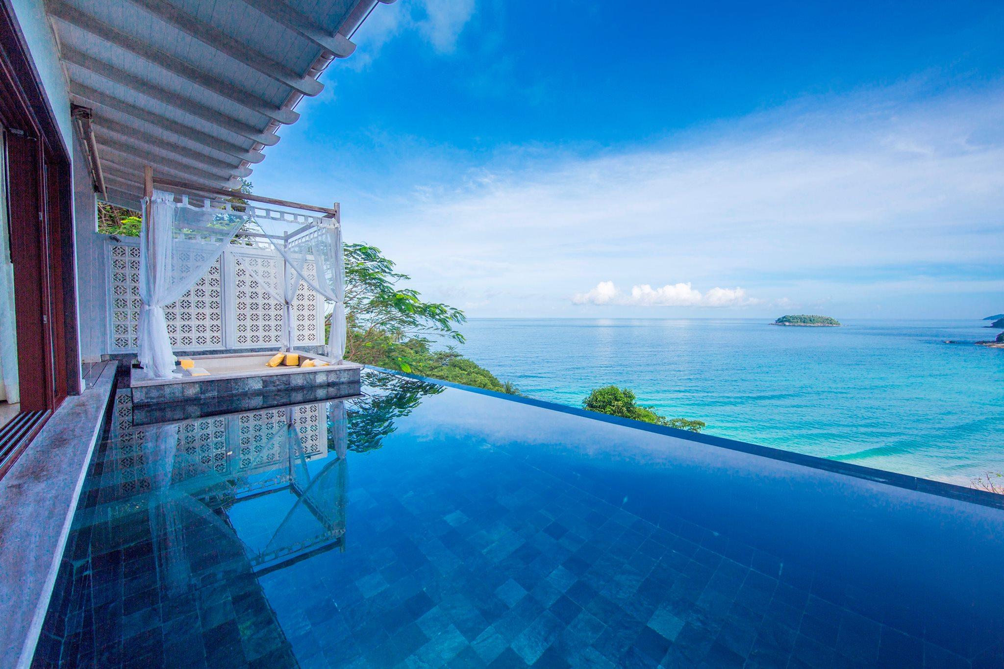 1 bedroom beachfront infinity pool villa in kata buena for Infinity pool design uk
